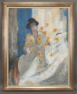 "Donald S. Vogel ""In Springtime"" oil on canvas,"