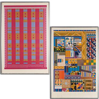 Eduardo Paolozzi, (2) serigraphs, 1967