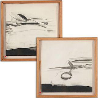 Richard Diebenkorn (manner), diptych drawing