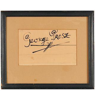 George Grosz, elaborate signature design