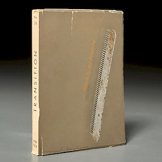 "Marcel Duchamp, signed ""Transition"" cover, 1937"