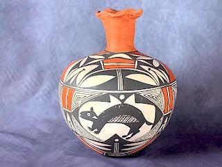 Acoma Pottery Jar, Signed V.S.