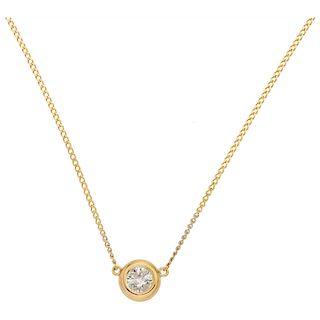 DIAMOND CHOKER. 14K YELLOW GOLD