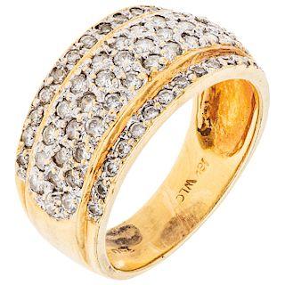 DIAMONDS RING.18K YELLOW GOLD