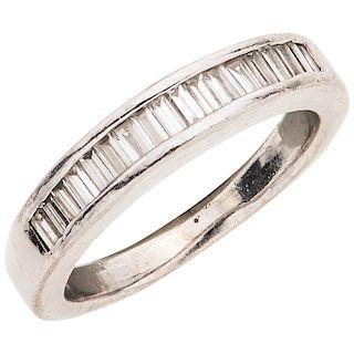HALF ETERNITY DIAMONDS RING. PLATINUM