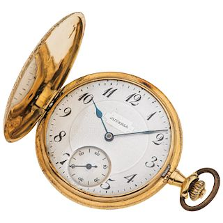 JUVENIA POCKET WATCH. 18K YELLOW GOLD
