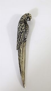 Pure Silver Parrot Letter Opener