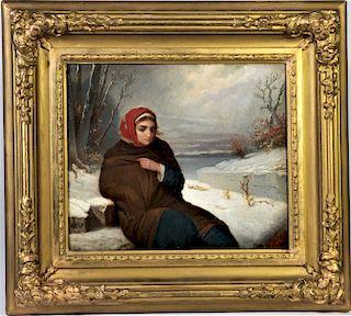 Henry Dawson  (British 1811 - 1878) Oil on Canvas