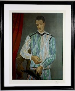 """Pablo Picasso """"Harlequin from the Barcelona Suite"""""""