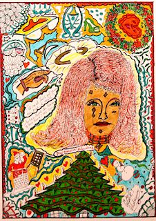 Outsider Art, Alpha Andrews,Bleeding Hair #0029