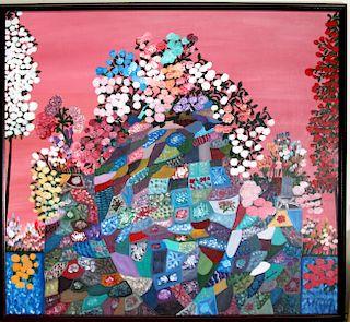Outsider Art, Annie Cochran, Love Flowers