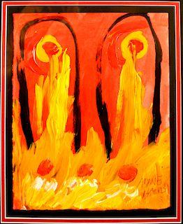 Outsider Art, Alyne Harris, Souls in Hell