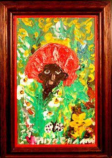 Outsider Art, Alyne Harris, Hiding Among the Flowers