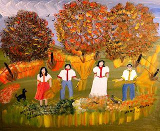 Outsider Art, Annie Wellborn, Making Sage Brooms