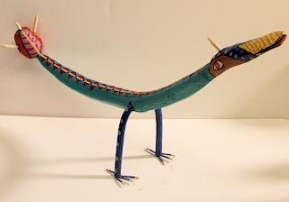 Outsider Art,Frank Pickle, Dragon-blue