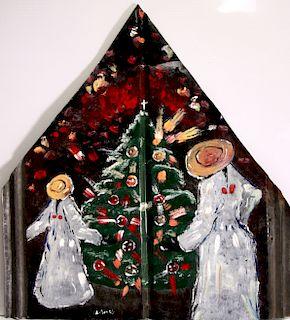 Outsider Art, Leonard Jones, Home for Christmas
