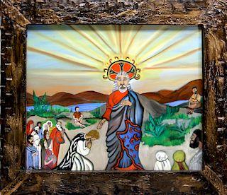 Outsider Art, Marguerite Durham, Jesus Teaching to Pray