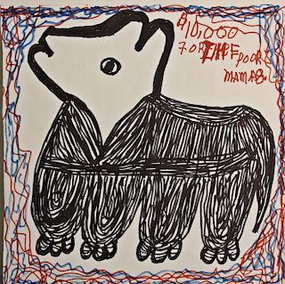 Outsider Art, Mama Johnson,$10,000 for the Poor