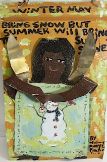 Outsider Art, Missionary Mary Proctor, Winter May Bring Snow but Summer will Bring the Sunshine