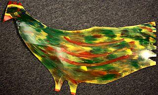 Outsider Art, RA Miller, Large Green Chicken