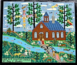 Outsider Art, Roy Finster, The Old Country Church by Roy E. Finster