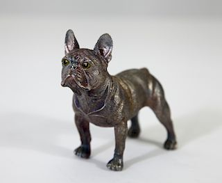 Faberge Silver Bulldog with Faberge Markings