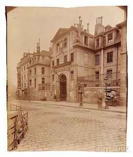 Eugène Atget (1857-1927)      Two Photographs: St. Lazare, Faubourg St. Denis