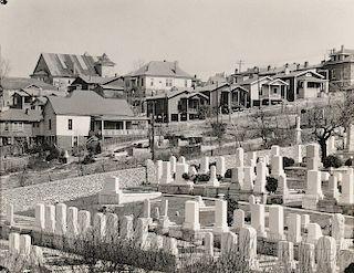 Walker Evans (American, 1903-1975)      Graveyard and Houses