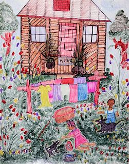 Outsider Art, Linda Bruton, Wash Day