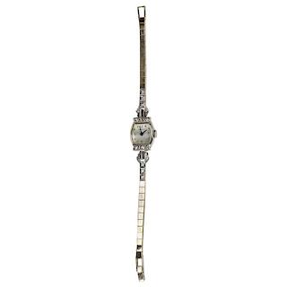 Tiffany & Co. White Gold and Diamond Ladies Wristwatch