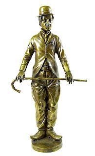Artist Unknown, Charlie Chaplin Bronze Sculpture