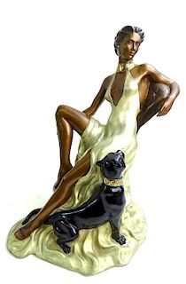 Alice Riordan Art Deco Style Bronze Sculpture