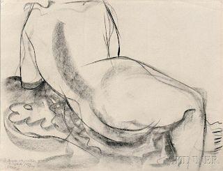 Anthony Caro (American, 1924-2013)      Reclining Nude