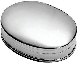 Sterling Silver Oval Pill Keepsake Box