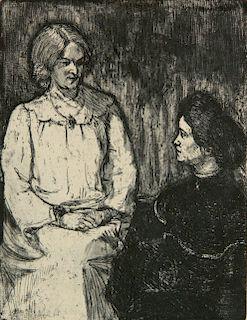 Emil Nolde etching and aquatint