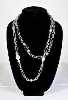 David Yurman Sterling & Gemstone Necklace