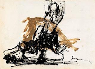 Lucio Fontana (Rosario 1899-Varese 1968)  - Due nudi femminili, 1960-64
