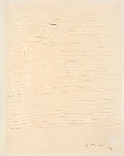 Lucio Fontana (Rosario 1899-Varese 1968)  - Concetto spaziale, 1958