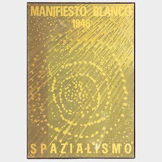 Attributed to Lucio Fontana (1889-1968): Manifesto Blanco