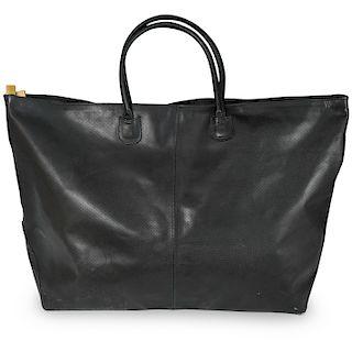 Large Black Leather Bottega Veneta Tote