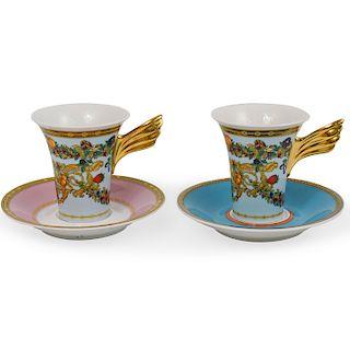 (2 Pc) Rosenthal x Versace Porcelain Teacups