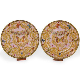 """(2 Pc) Rosenthal Versace """"Butterfly Garden"""" Plates"""