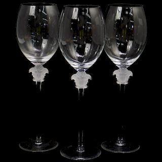 (3 Pc) Rosenthal Versace Lumiere Red Wine Glasses