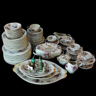 """(93 Pc) Norleans """"Rosanne"""" Porcelain Dinner Set"""