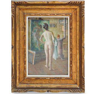 Ramon Ribas Rius (Spanish, 1903–1983) Pastel on Canvas
