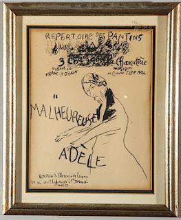 "Pierre Bonnard ""Malheureuse Adele"" Lithograph"