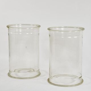 GLASS CYLINDERS/PLINTHS