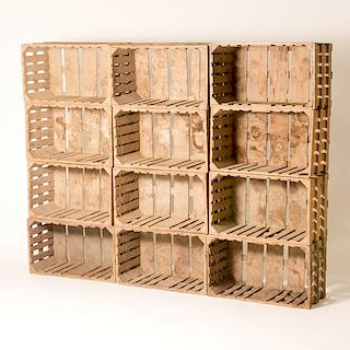 CRATED AS BOOKCASE