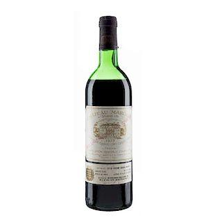 Château Margaux. Cosecha 1977. Gran Vin  Premier Grand Cru Classé. Margaux. Nivel: en la mitad del hombro. Calificación. 90/100.