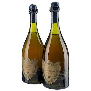 Cuvée Dom Pérignon. Vintage 1964. Brut. Moët et Chandon á Èpernay. France. Piezas: 2.